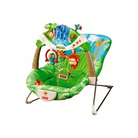 """Кресло-шезлонг с вибрацией Fisher Price """"Тропический лес"""""""